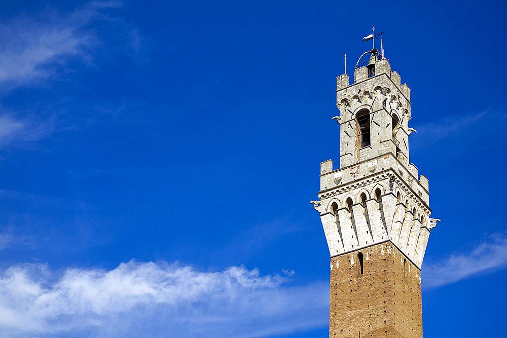 Piazza del Palio, Siena city, Tuscany, Italy, Europe.