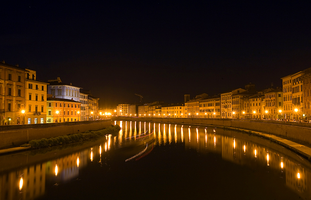 Arno river, Pisa city, Tuscany, Italy, Europe.