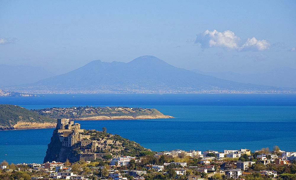 Aragonese castle, Ischia island, Naples, Campania, Italy, Europe