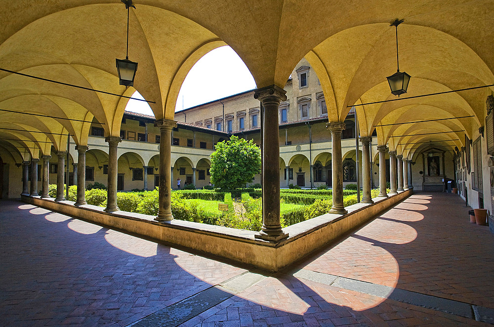 Chiostro dei Canonici, S.Lorenzo, Florence, Tuscany, Italy, Europe