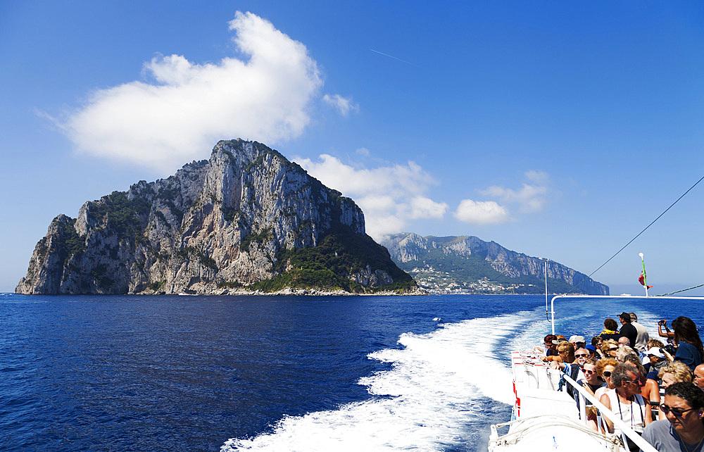 Capri harbour, Capri island, Naples, Campania, Italy, Europe.