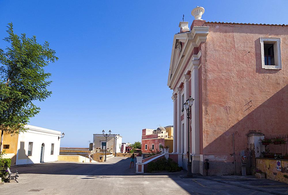 San Candida church, Ventotene island, Pontine Islands, Lazio, Italy, Europe