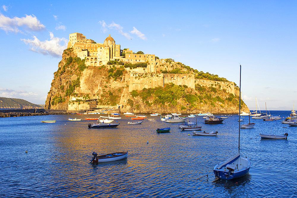 Aragonese Castle, Ischia Porto, Ischia island, Campania, Italy, Europe
