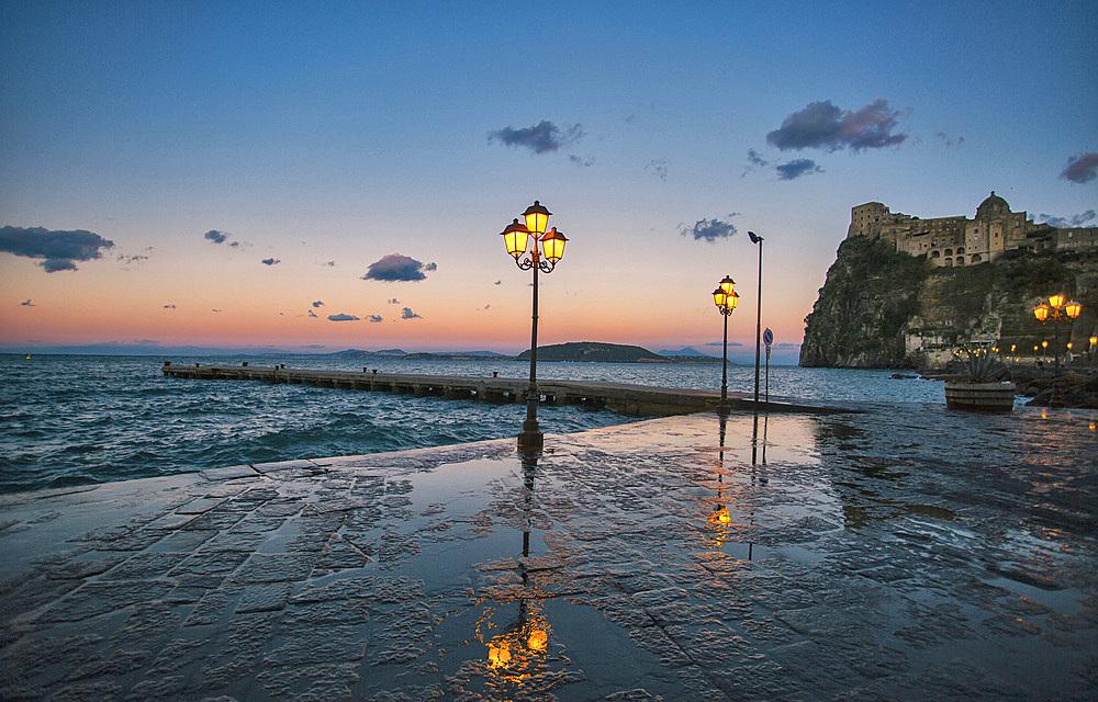Piazzale Aragonese, Ischia island, Campania, Italy, Europe