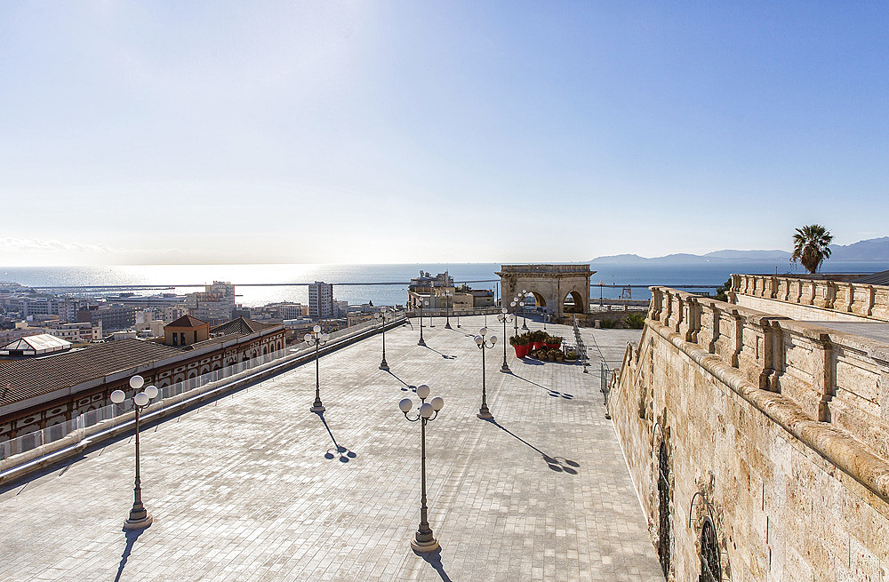 Bastione San Remy, Cagliari, Sardinia, Italy, Europe