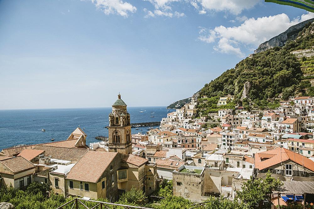 Amalfi cityscape, Amalfi Coast, Campania, Italy, Europe