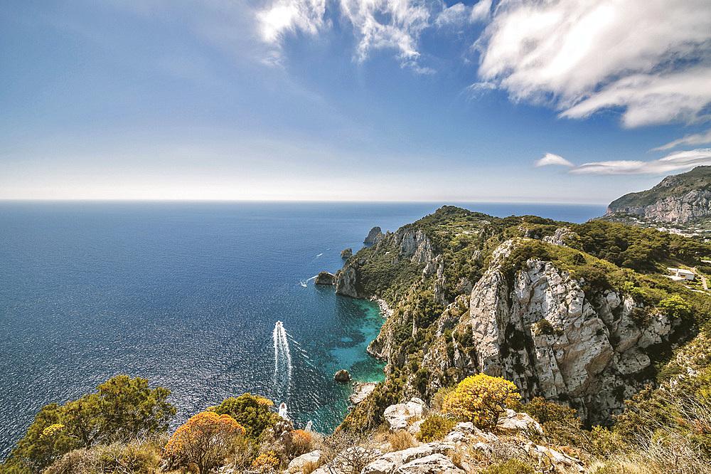 Foreshortening, Capri island, Campania, Italy, Europe