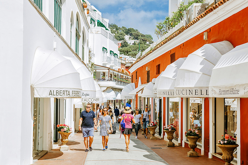 Capri, fashion shop, Capri island, Campania, Italy, Europe