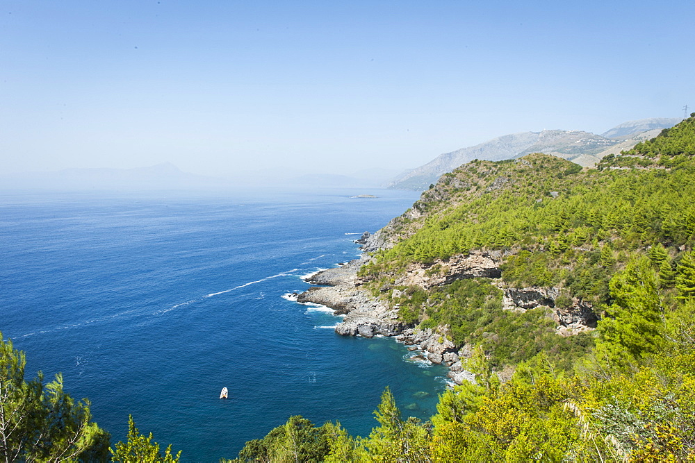 Coast on the Tyrrhenian Sea near Maratea, Basilicata, Italy, Europe