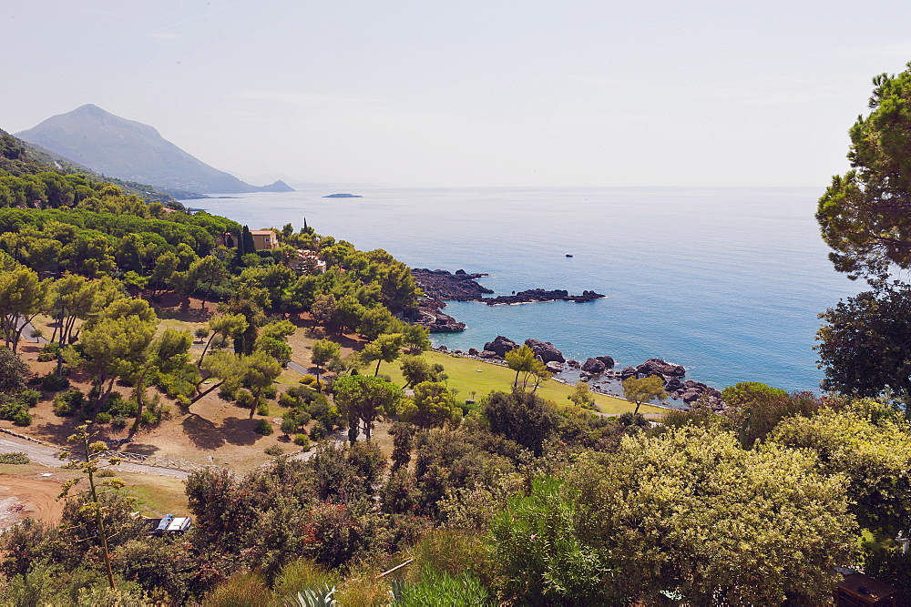 Coast of the Tyrrhenian Sea near Maratea, Basilicata, Italy, Europe