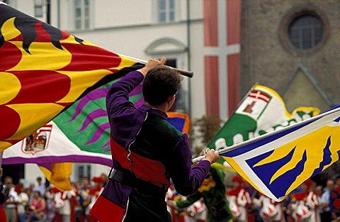 Flag-waver, Palio di Asti, Asti, Piemonte, Italy
