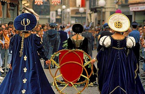 Procession, Palio di Asti, Asti, Piemonte, Italy