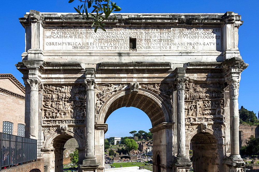Arch of Septimus Severus, Ancient Roman Forum, UNESCO World Heritage Site, Rome, Lazio, Italy, Europe