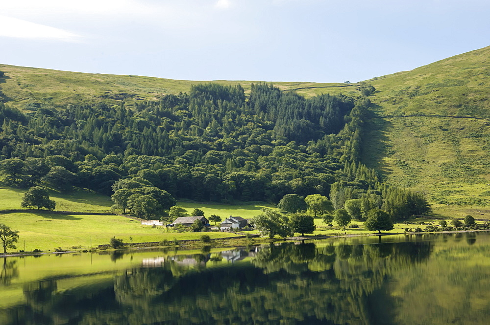 Lakeland Farm by Wastwater, early morning, Wasdale, Lake District National Park, Cumbria, England, United Kingdom, Europe