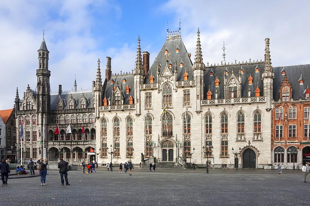 Provinciaal Hoff, Market Square, Bruges, UNESCO World Heritage Site, Belgium, Europe