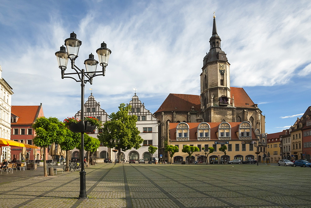 Town Square, St. Wenceslas Parish Church, Naumburg, Saxony-Anhalt, Germany, Europe