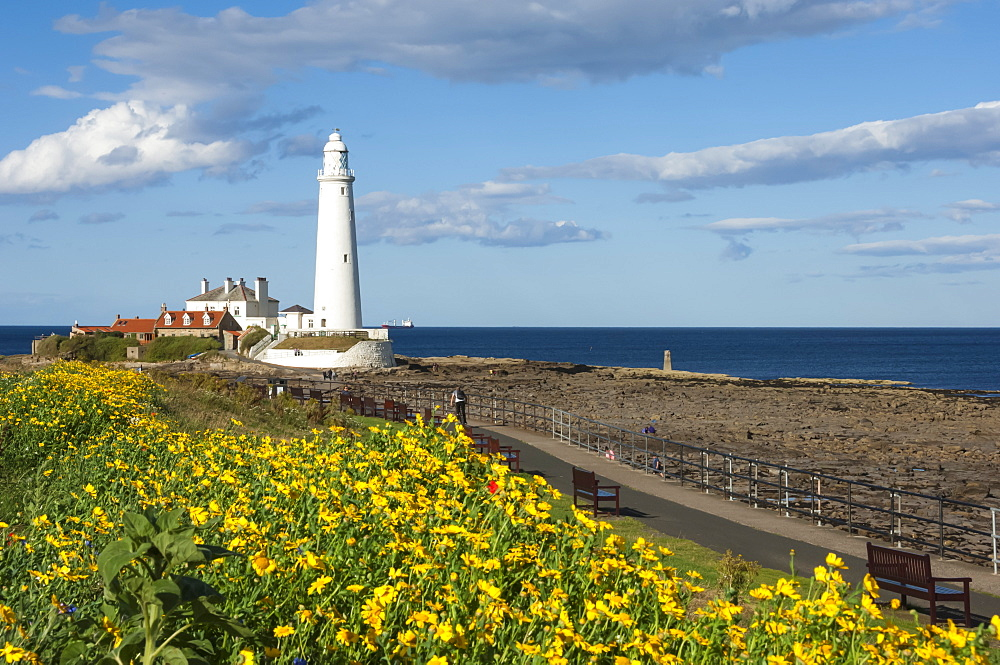 St. Mary's Lighthouse, Whitley Bay, Northumbria, England, United Kingdom, Europe