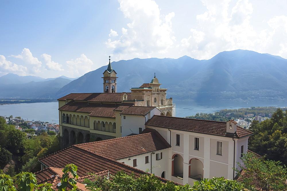 Madonna del Sasso, Monastery, Orselina, Locarno, Lake Maggiore, Ticino, Switzerland, Europe