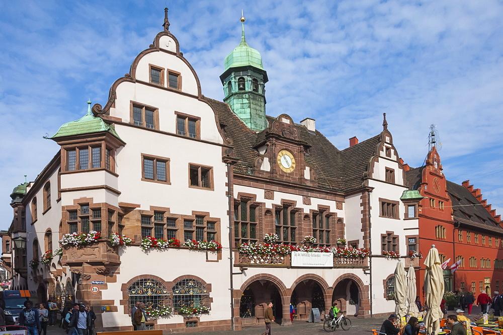 Rathaus, Rathausplatz, Freiburg im Breisgau, Black Forest, Baden-Wurttemberg, Germany, Europe - 747-1832