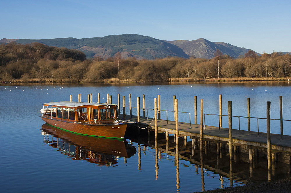 Tourist Launch, Derwentwater, Keswick, Lake District National Park, Cumbria, England, United Kingdom, Europe - 747-1859