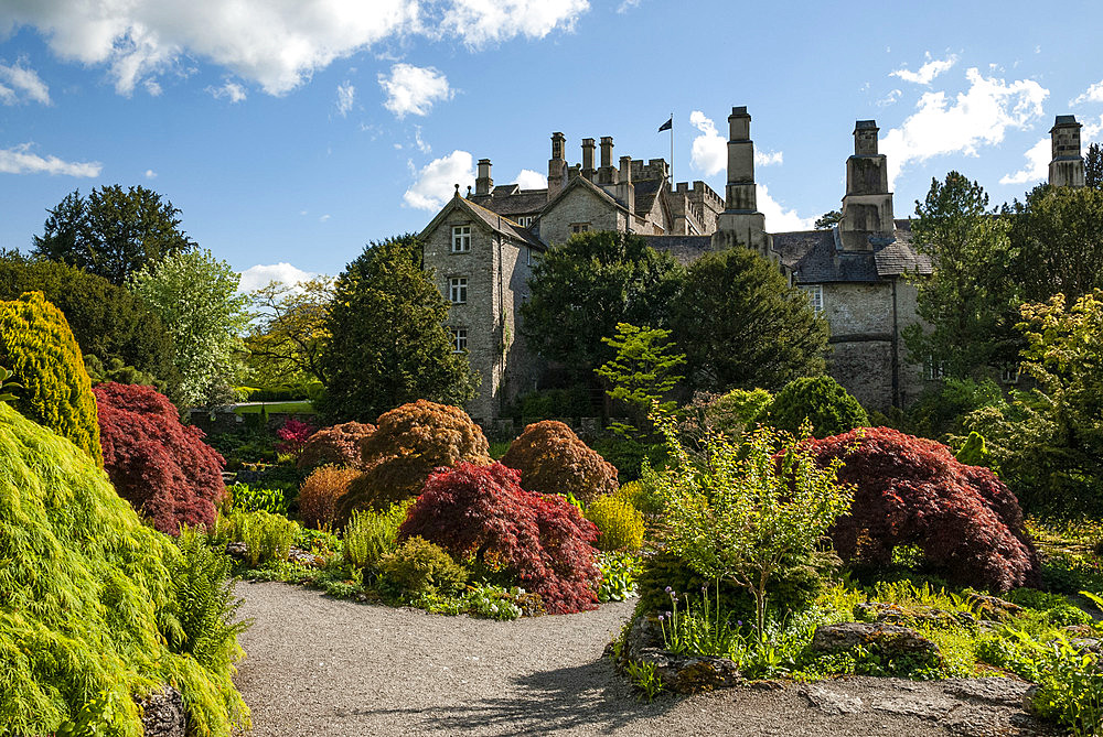Sizergh Castle and Garden, South Kendal, Cumbria, England, United Kingdom, Europe