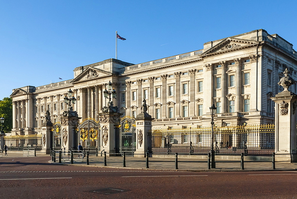 Buckingham Palace, near Green Park, London, England, United Kingdom, Europe