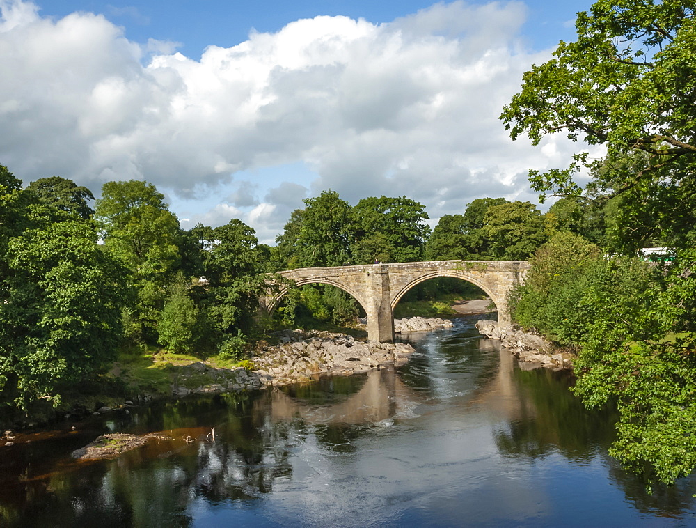 Devils Bridge, River Lune, Kirkby Lonsdale, Cumbria, England, United Kingdom, Europe