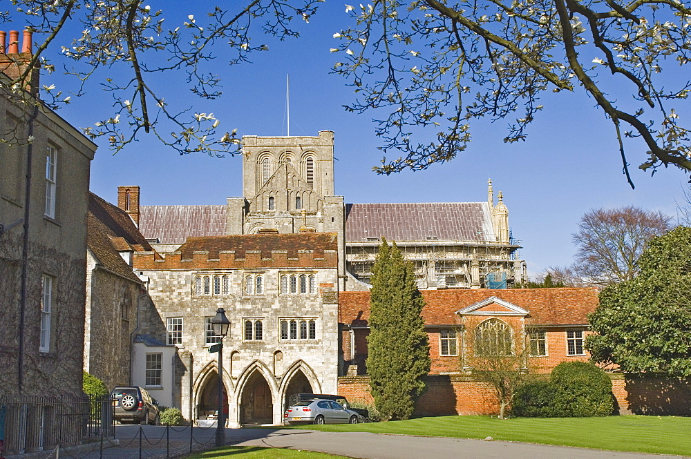 Winchester Cathedral and precinct, Winchester, Hampshire, England, United Kingdom, Europe
