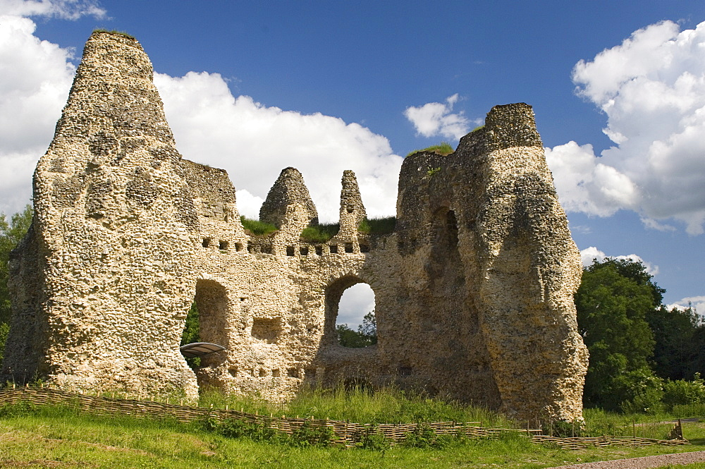 King Johns Castle where King John resided prior to signing the Magna Carta in 1215, Odiham, Hampshire, England, United Kingdom, Europe
