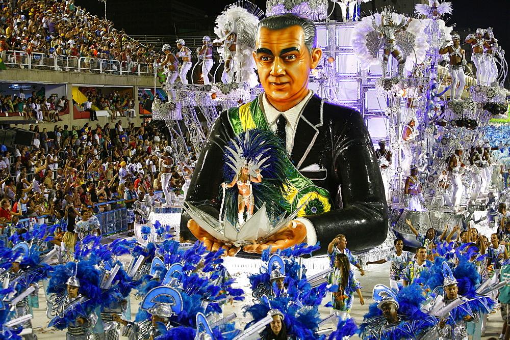 Carnival parade at the Sambodrome, Rio de Janeiro, Brazil, South America  - 749-1034