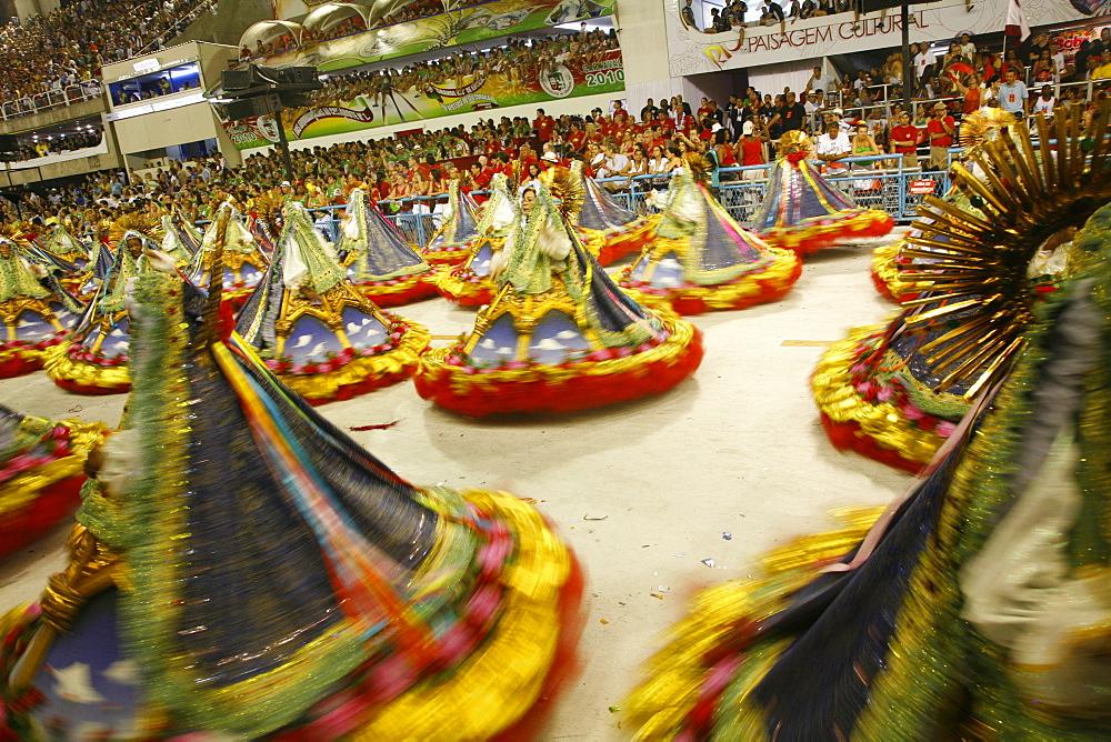 Carnival parade at the Sambodrome, Rio de Janeiro, Brazil, South America