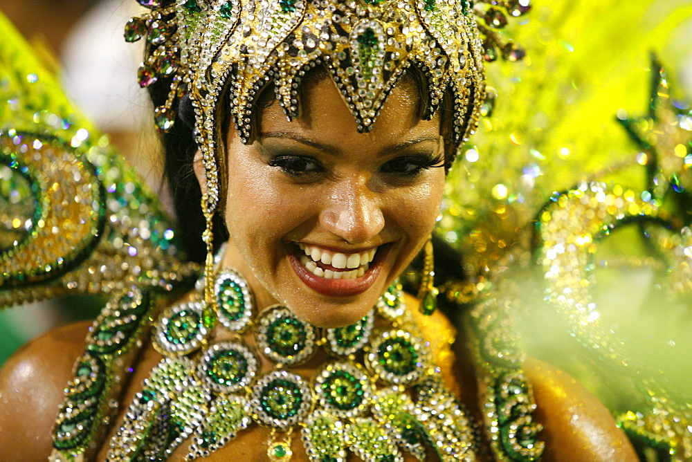 Carnival parade at the Sambodrome, Rio de Janeiro, Brazil, South America - 749-1086