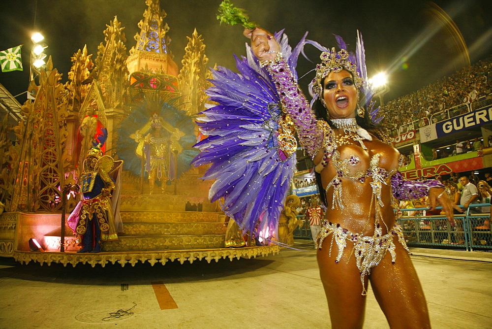 Carnival parade at the Sambodrome, Rio de Janeiro, Brazil, South America - 749-1089
