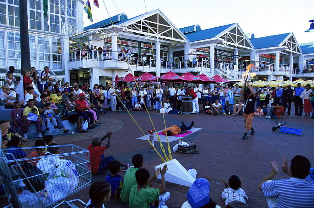 Street performance at the Victoria and Alfred waterfront, Cape Town, South Africa, Africa