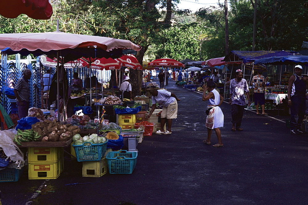 Vegetable market, Fort de France, Martinique, Lesser Antilles, West Indies, Caribbean, Central America
