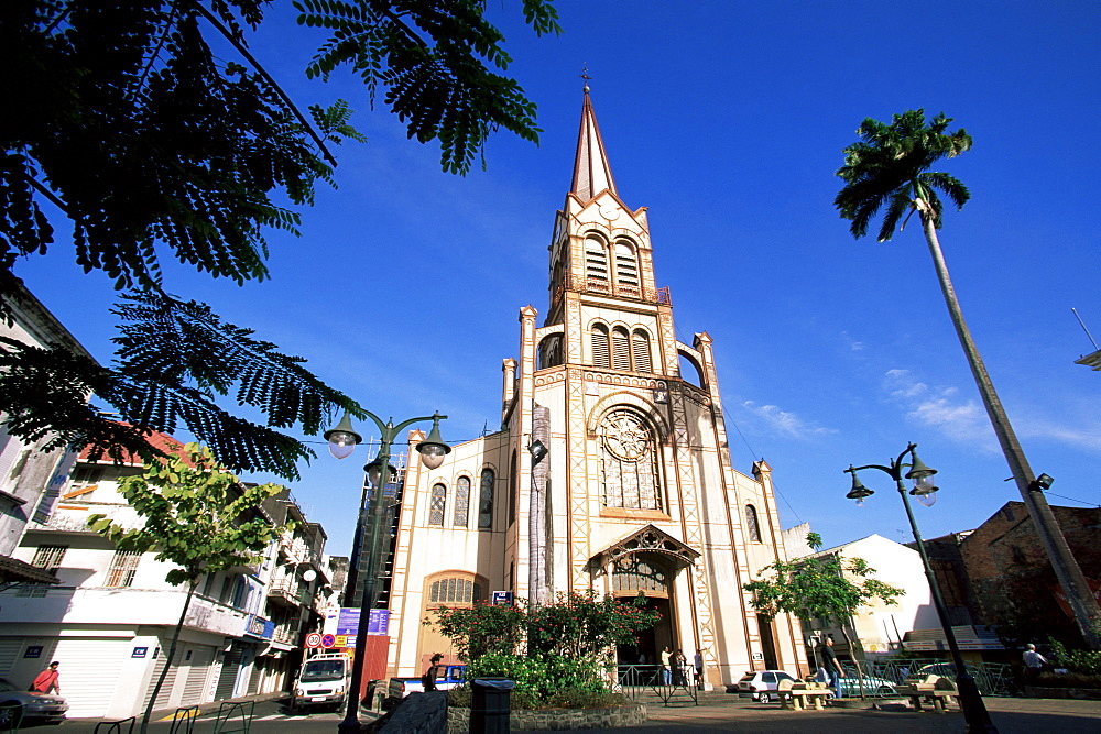 Cathedral of St. Louis in the centre of Fort de France, Martinique, Lesser Antilles, West Indies, Caribbean, Central America