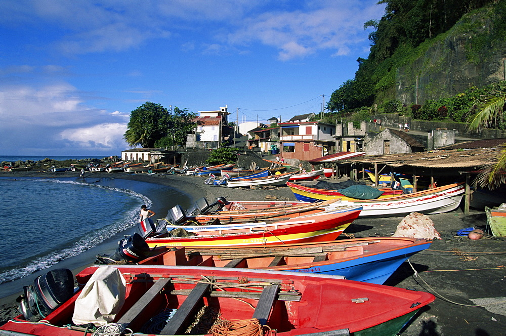 Grand Riviere fishing village, island of Martinique, Lesser Antilles, French West Indies, Caribbean, Central America