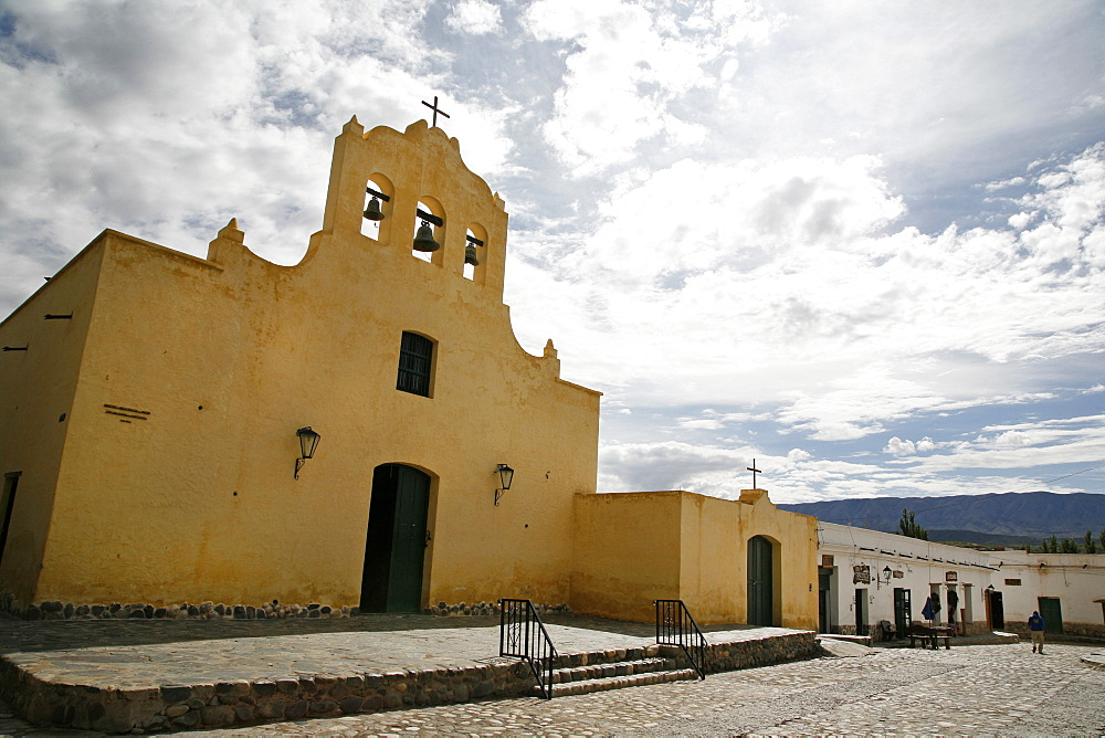 San Jose de Cachi church located at the main square in Cachi, Salta Province, Argentina, South America