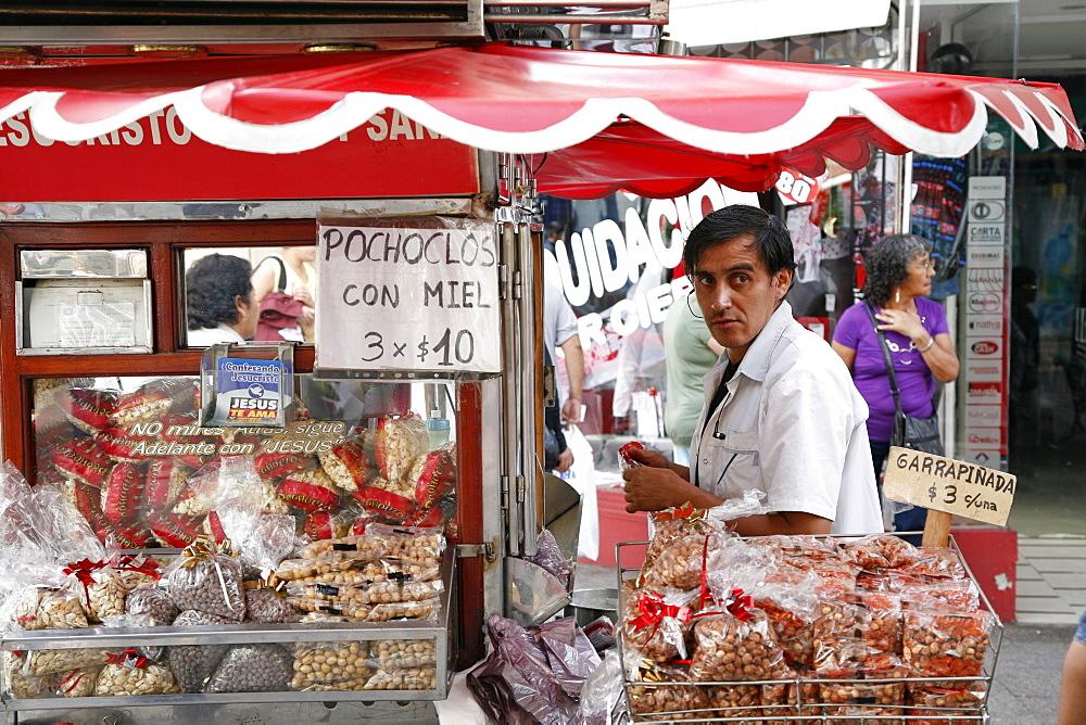 Street food stall selling peanuts, Salta City, Argentina, South America