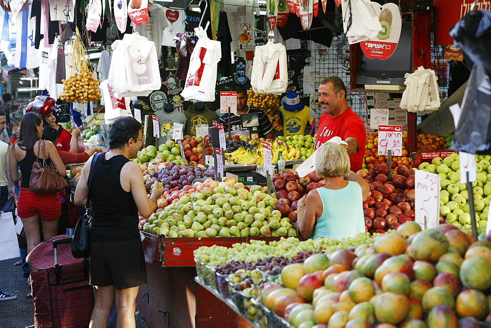 Shuk HaCarmel market, Tel Aviv, Israel, Middle East