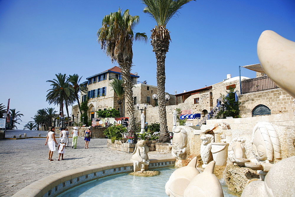 Kdumim Square in Old Jaffa, Tel Aviv, Israel, Middle East