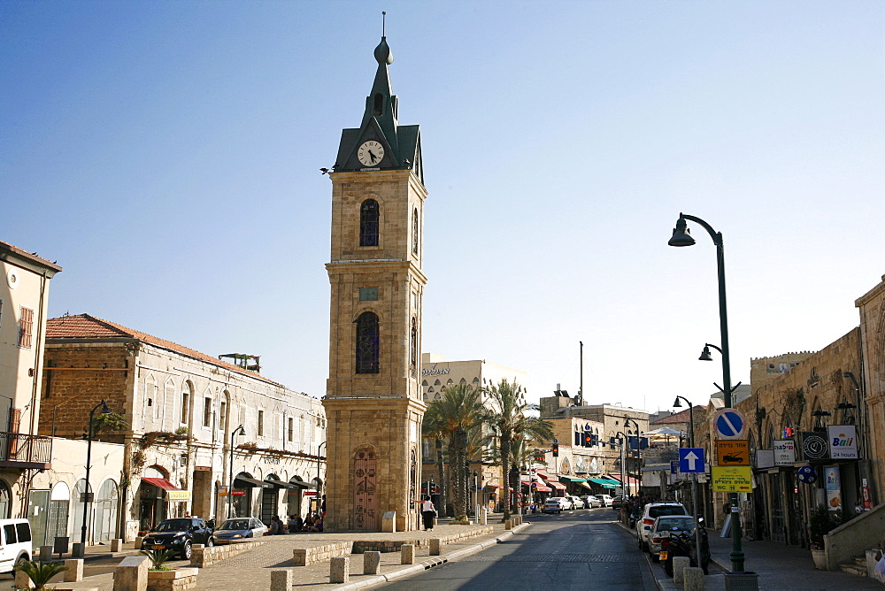 The Clock Tower in Old Jaffa, Tel Aviv, Israel, Middle East