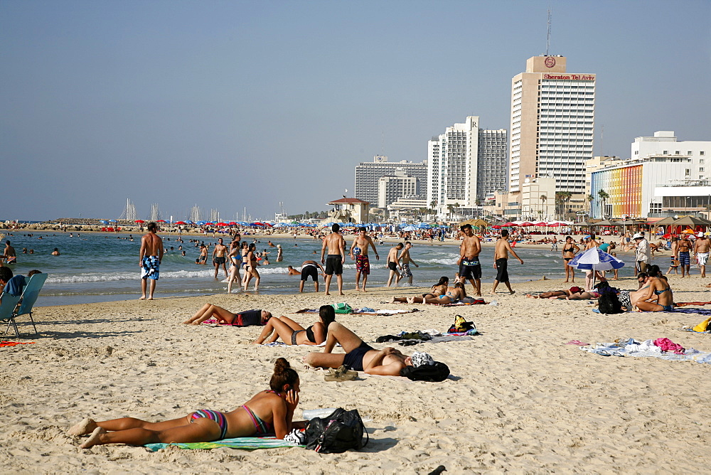Beach, Tel Aviv, Israel, Middle East