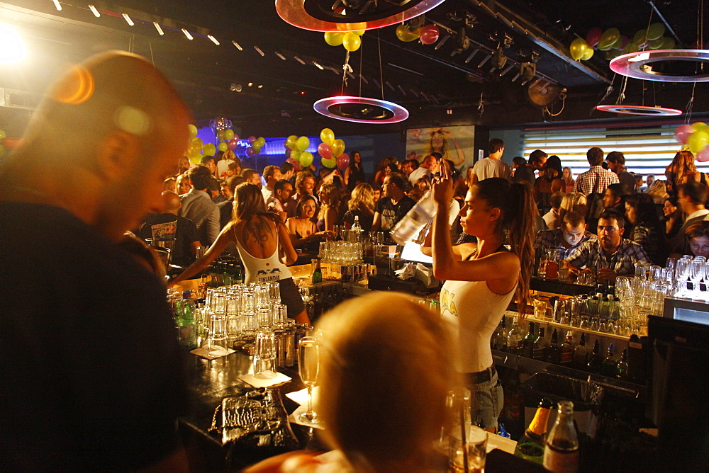 Yaya dance bar which is considered to be one of the top spots in Tel Aviv, Israel, Middle East