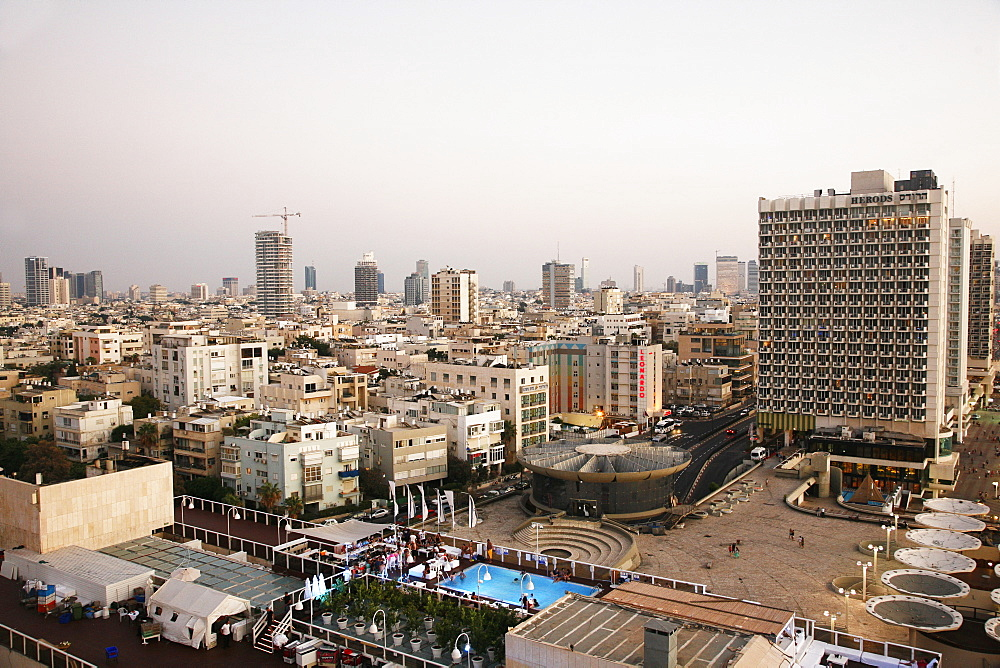 View over the skyline of Tel Aviv, Israel, Middle East