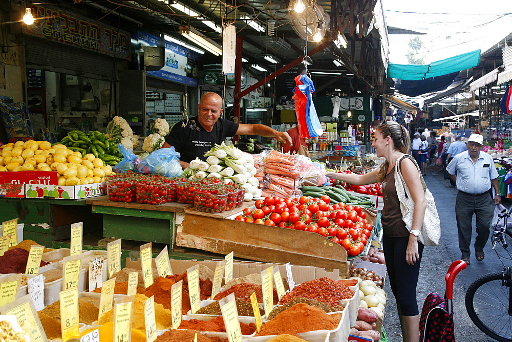 Shuk HaCarmel (Carmel Market), Tel Aviv, Israel, Middle East