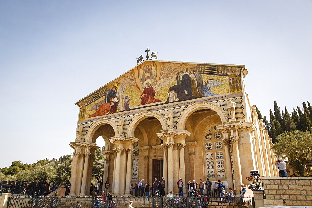 The Basilica of the Agony (Church of All Nations) near the Garden of Gethsemane, Jerusalem, Israel, Middle East