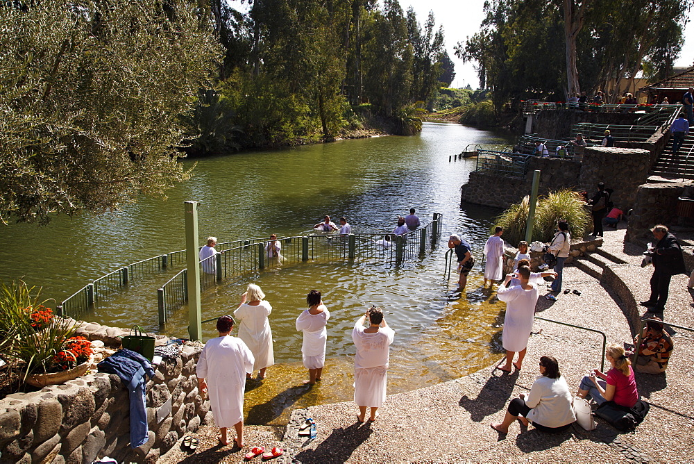 The Yardenit Baptismal Site by the Jordan River near the Sea of Galilee, Israel, Middle East