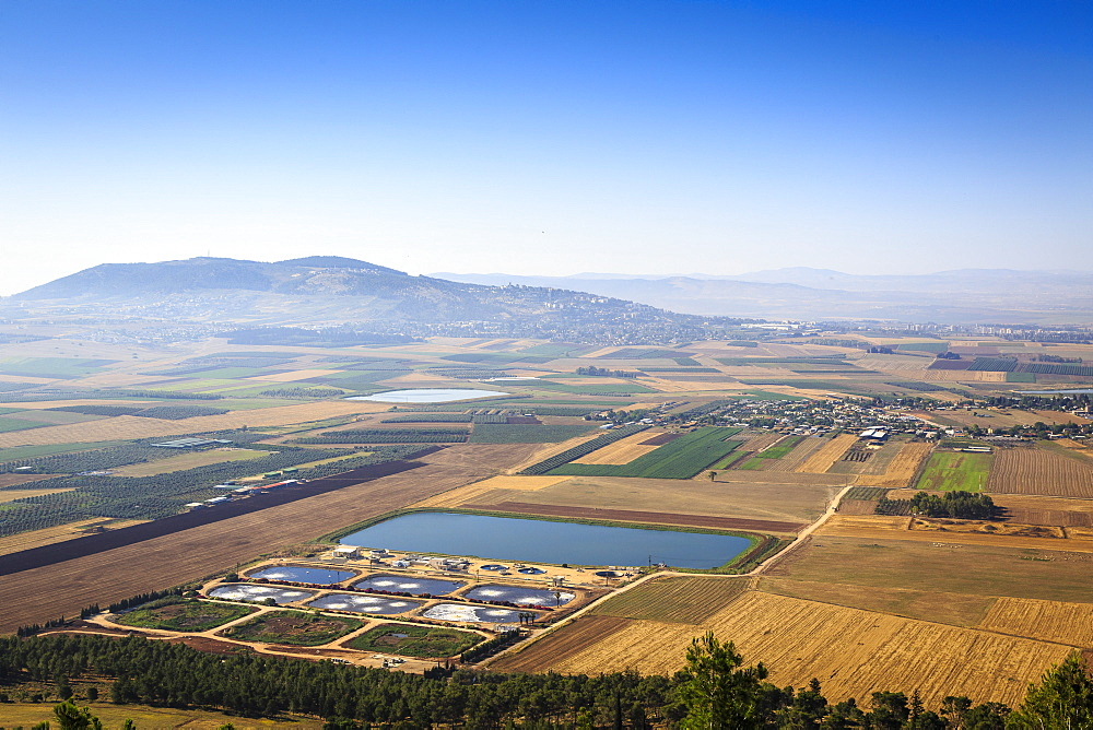 A view over Jezreel Valley from Mount Precipice, Nazareth, Galilee region, Israel, Middle East