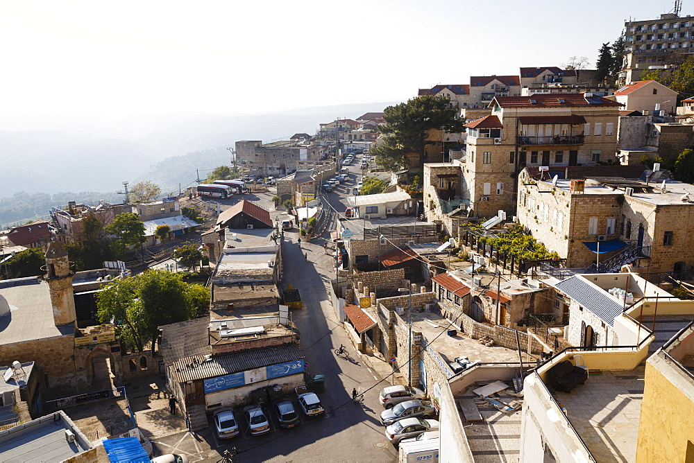 View over the old city of Safed, Upper Galilee, Israel, Middle East